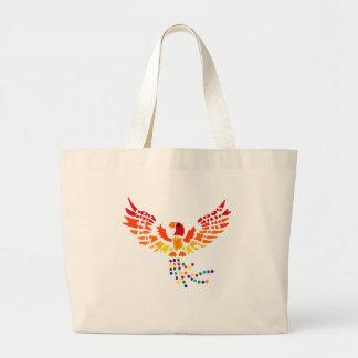 Artistic Fun Phoenix Rising Abstract Art Jumbo Tote Bag