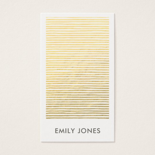 ARTISTIC GOLD FAUX SKETCH STRIPED LINE PATTERN BUSINESS