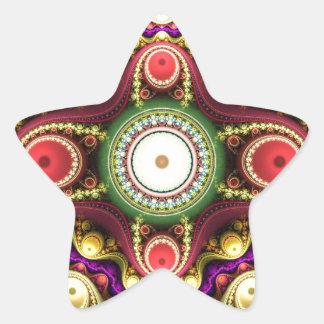 Artistic golden purple mandala stickers