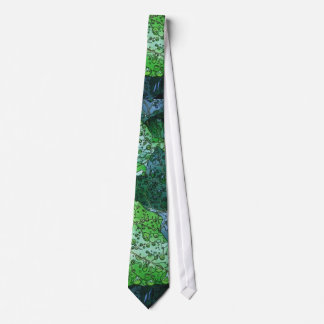 Artistic Green Dew and Rain Tie