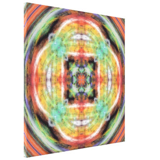 Artistic Grunge Kaleidoscope Canvas Prints