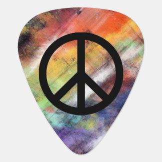 Artistic Grunge Peace Sign Plectrum