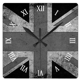 Artistic Grunge UK flag Wall Clocks