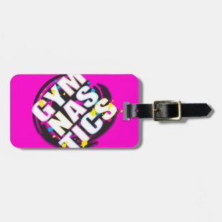 Artistic Gymnastics Paint Pink Luggage Tag