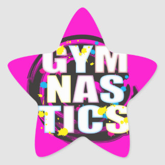 Artistic Gymnastics Paint Pink Star Sticker