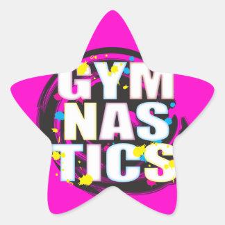Artistic Gymnastics Paint Pink Stickers