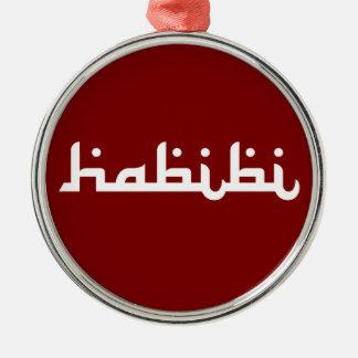 Artistic Habibi Silver-Colored Round Decoration