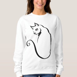 Artistic Hand Drawn Cat Women's Classic Sweater