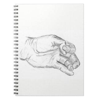 Artistic Hand Notebooks