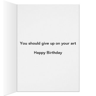 Artistic Happy Birthday Card