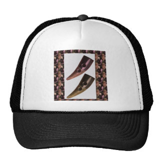Artistic HORN Craft Tie BUTTONS Hat