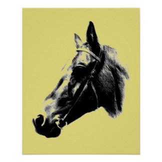 Artistic Horse Head Poster