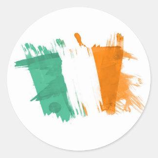 Artistic Ireland Flag - Customizable design Classic Round Sticker