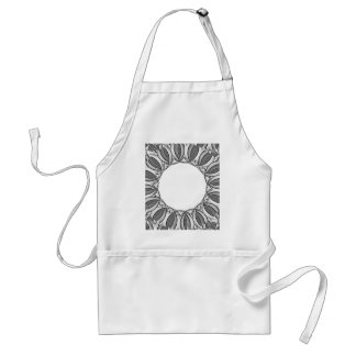 artistic kaleidoscope background standard apron