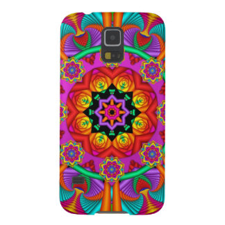 Artistic kaleidoscope / fantasy flowers galaxy s5 cover