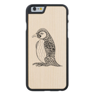 Artistic King Penguin Zendoodle Carved Maple iPhone 6 Case