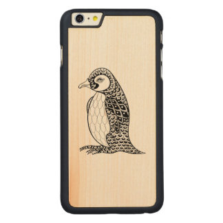 Artistic King Penguin Zendoodle Carved® Maple iPhone 6 Plus Case