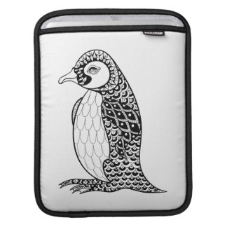 Artistic King Penguin Zendoodle iPad Sleeve