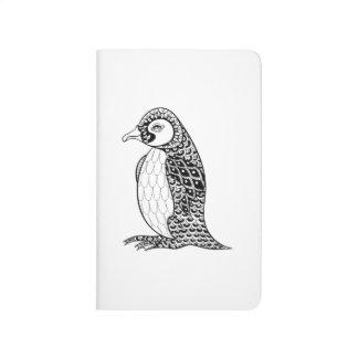 Artistic King Penguin Zendoodle Journal