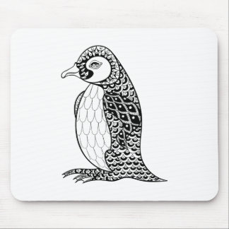 Artistic King Penguin Zendoodle Mouse Mat