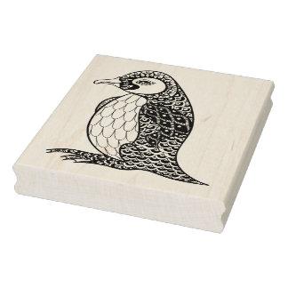 Artistic King Penguin Zendoodle Rubber Stamp