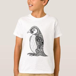 Artistic King Penguin Zendoodle T-Shirt