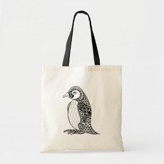 Artistic King Penguin Zendoodle Tote Bag
