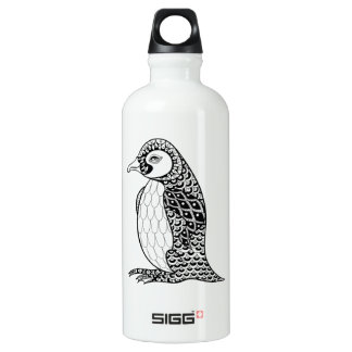 Artistic King Penguin Zendoodle Water Bottle
