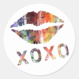 Artistic Kiss Sticker