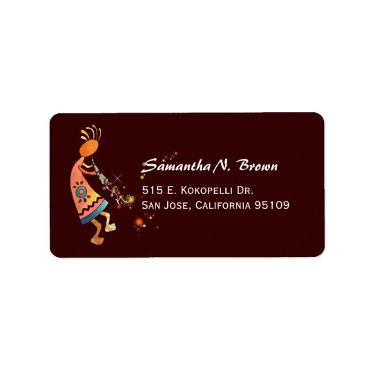 Artistic Kokopelli Cute Address Labels