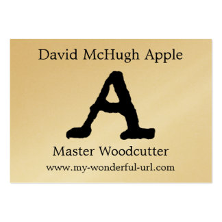 """Artistic Letter """"A"""" Hand Lettered Style Initial Business Cards"""