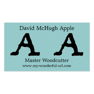 """Artistic Letter """"A"""" Hand Lettered Style Initial Business Card Template"""