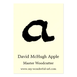 """Artistic Letter """"A"""" Woodcut Woodblock Initial Business Card Templates"""