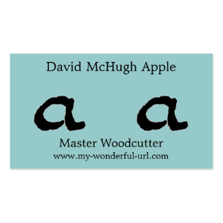 """Artistic Letter """"A"""" Woodcut Woodblock Initial Pack Of Standard Business Cards"""