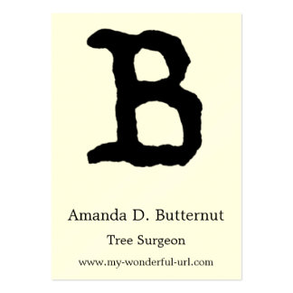 """Artistic Letter """"B"""" Hand Lettered Style Initial Pack Of Chubby Business Cards"""