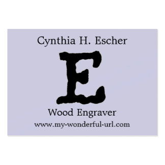 """Artistic Letter """"E"""" Hand Lettered Style Initial Pack Of Chubby Business Cards"""