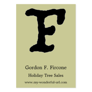 """Artistic Letter """"F"""" Hand Lettered Style Initial Pack Of Chubby Business Cards"""