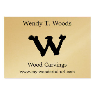 """Artistic Letter """"W"""" Hand Lettered Style Initial Pack Of Chubby Business Cards"""