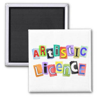 Artistic licence. square magnet