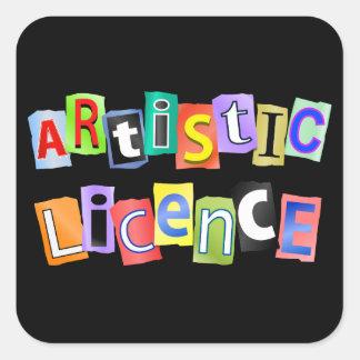 Artistic licence. square sticker