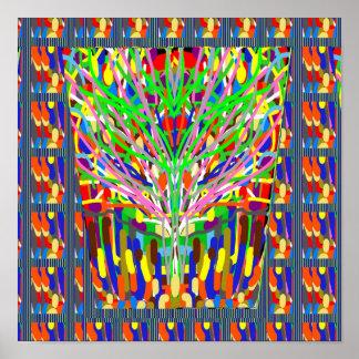 ARTISTIC Line Art TREE SHOW Print