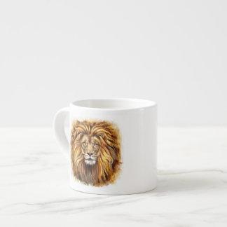 Artistic Lion Face Espresso Cup