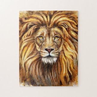 Artistic Lion Face Puzzle