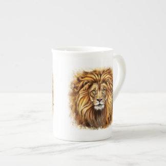 Artistic Lion Face Tea Cup Bone China Mug