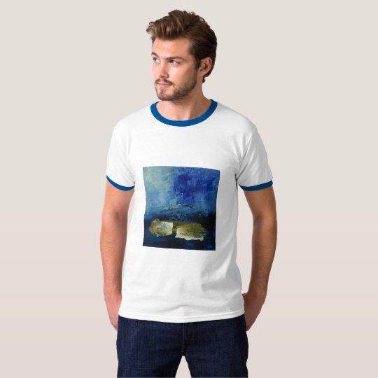 Artistic Men's Basic Ringer T-Shirt, White/Black T-Shirt