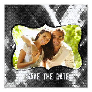 Artistic Modern Chic Trendy Sequins Save The Date 13 Cm X 13 Cm Square Invitation Card