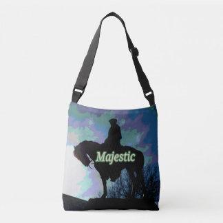 "Artistic Modern ""Majestic ""George Washington Horse Crossbody Bag"