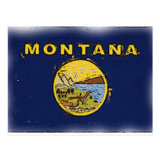 Artistic Montana state flag Postcards