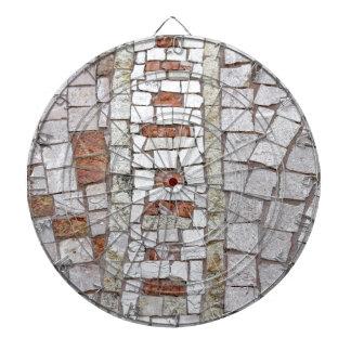 artistic mosaic dartboard