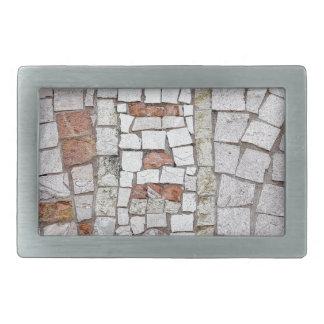 artistic mosaic rectangular belt buckle